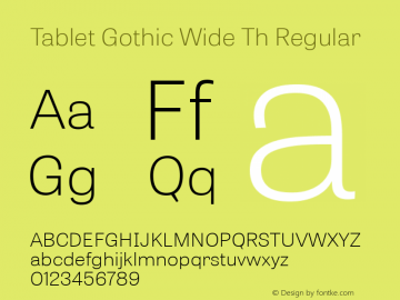 Tablet Gothic Wide