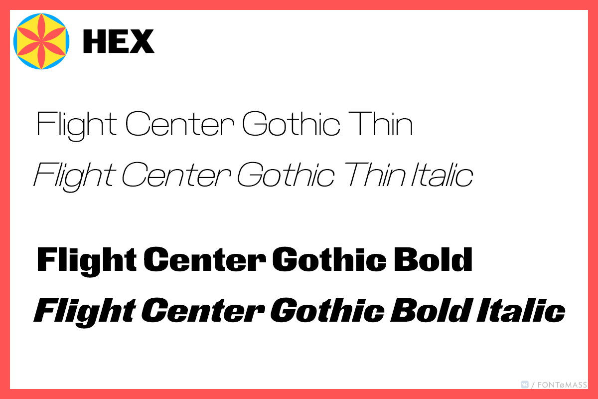 Flight Center Gothic
